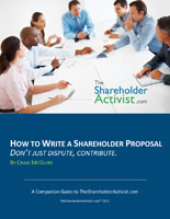 image  How To Write A Shareholder Proposal Don't Just Dispute, Contribute. A Companion Guide to TheShareholderActivist.com by Craig McGuire